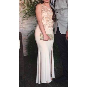 Cream colored prom dress